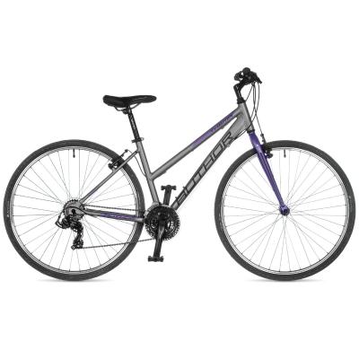 Moteriškas dviratis Author Thema, pilkas