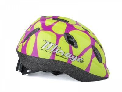 Vaikiškas dviratininko šalmas Author Mirage Inmold (rožinė/geltona)