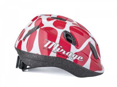 Vaikiškas dviratininko šalmas Author Mirage Inmold (raudona/balta)