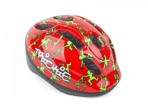 Vaikiškas dviratininko šalmas Author Trickie 49-56cm (raudona/žalia)