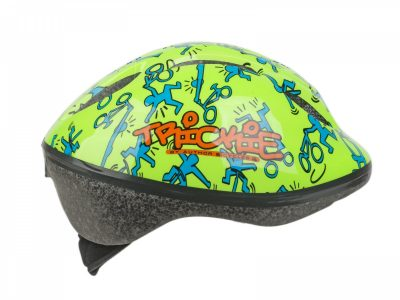 Vaikiškas dviratininko šalmas Author Trickie 49-56cm (žalios/mėlynos)