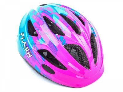 Vaikiškas dviratininko šalmas Author Flash Inmold X8 (rožinė/mėlyna matinė)
