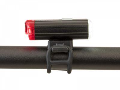 Dviračio lempų komplektas Author A-DoubleShot 250/12 liumenai USB (juoda)