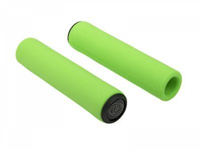 Dviračio rankenos Author AGR silikoninė Elito l.130mm (žalia-neonas)
