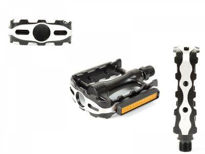 Dviračio pedalai Author APD-315 aliuminiai (juoda/sidabro)