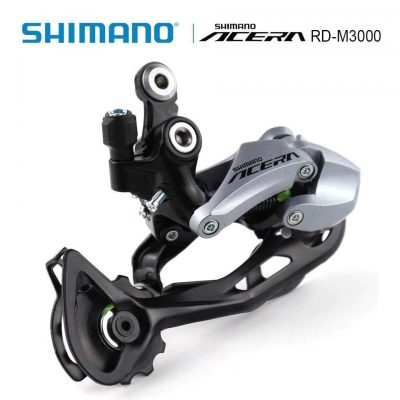 Galinis pavarų perjungėjas Shimano Acera RD-M3000 SGS Shadow DM 9 pavarų, sidabrinis